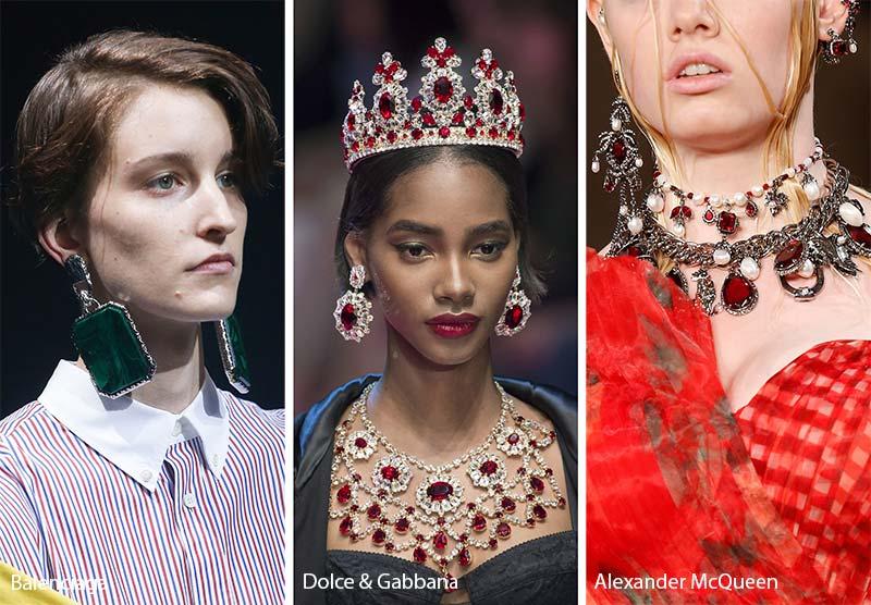 Tendencia 2018 aretes Big candelabro arquitectura moda perlas dorado