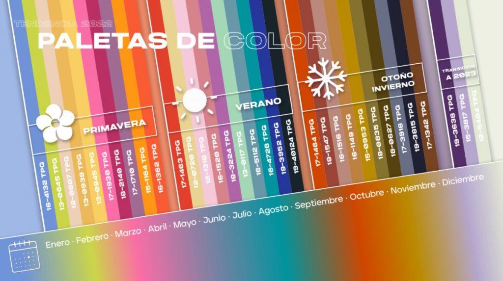 paleta de colores 2022